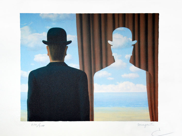 René Magritte. Decalcomania.